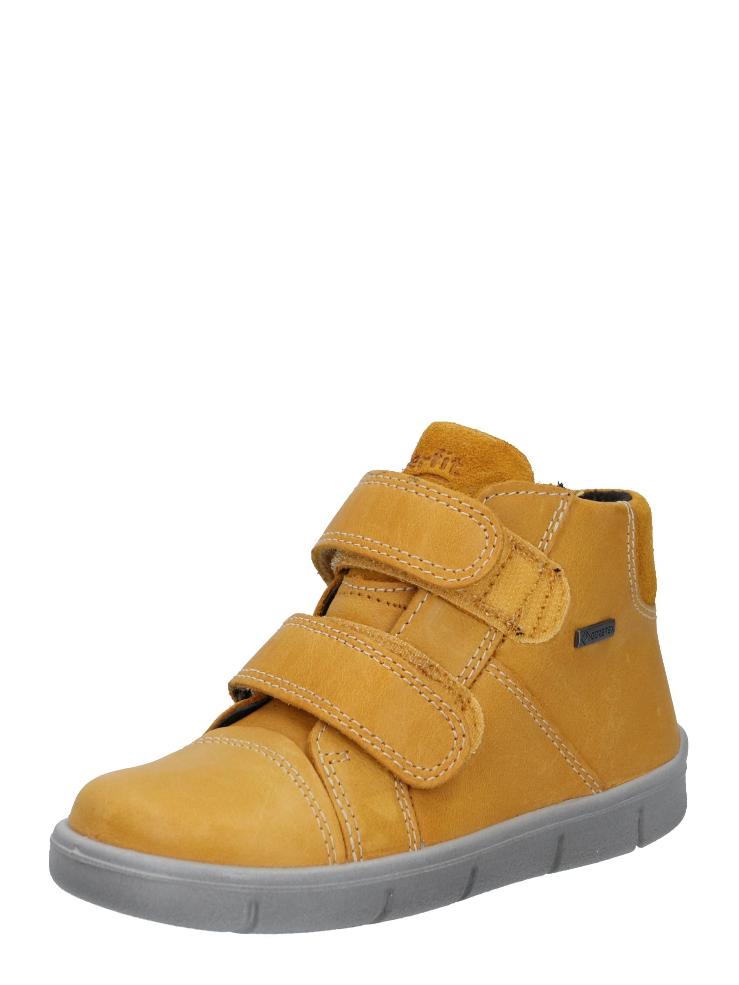 SUPERFIT Pirmieji vaiko vaikščiojimo bateliai 'ULLI' aukso geltonumo spalva
