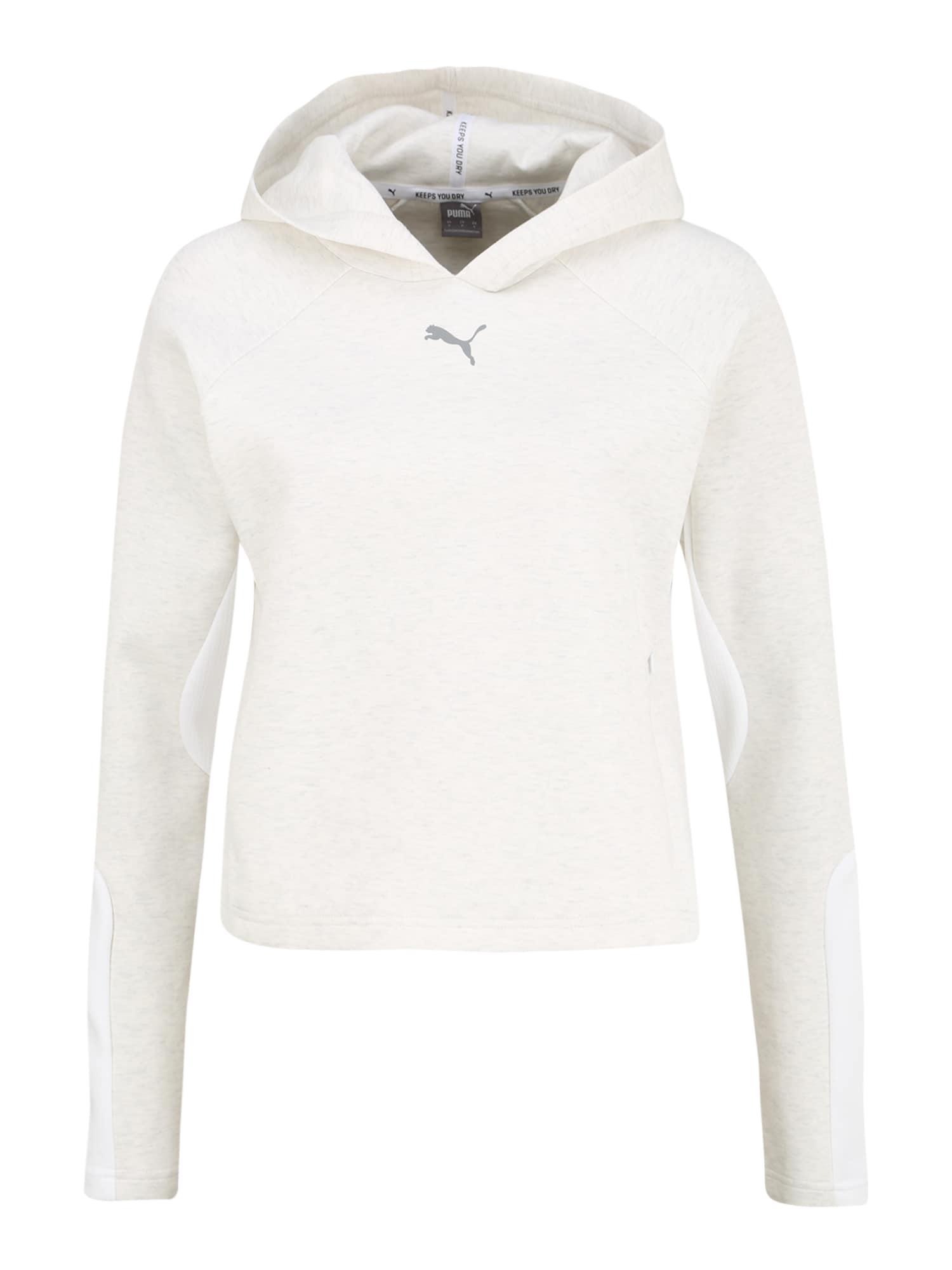 PUMA Sportinio tipo megztinis balta