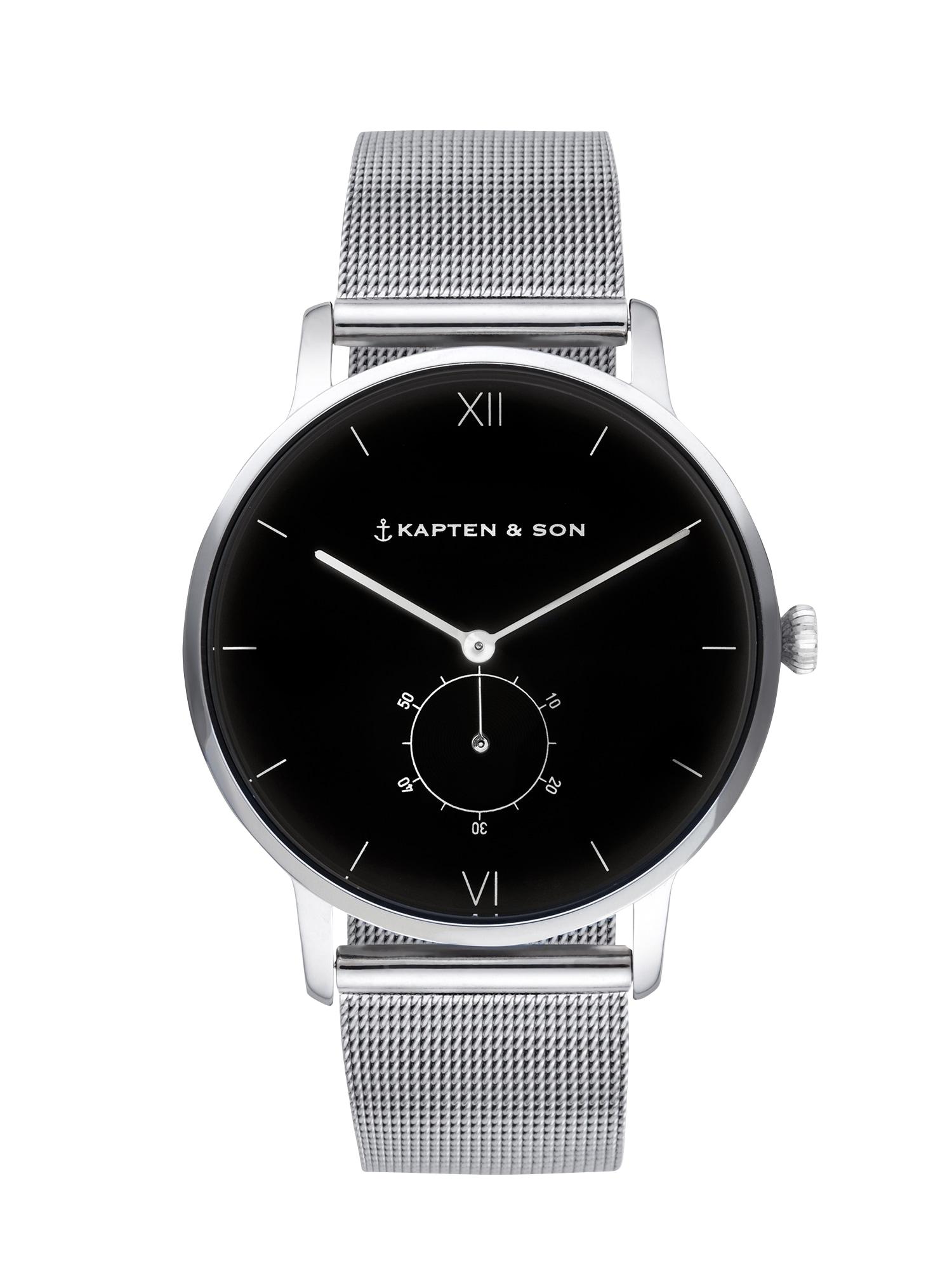 Kapten & Son Analoginis (įprastinio dizaino) laikrodis 'Heritage Silver' juoda / sidabras