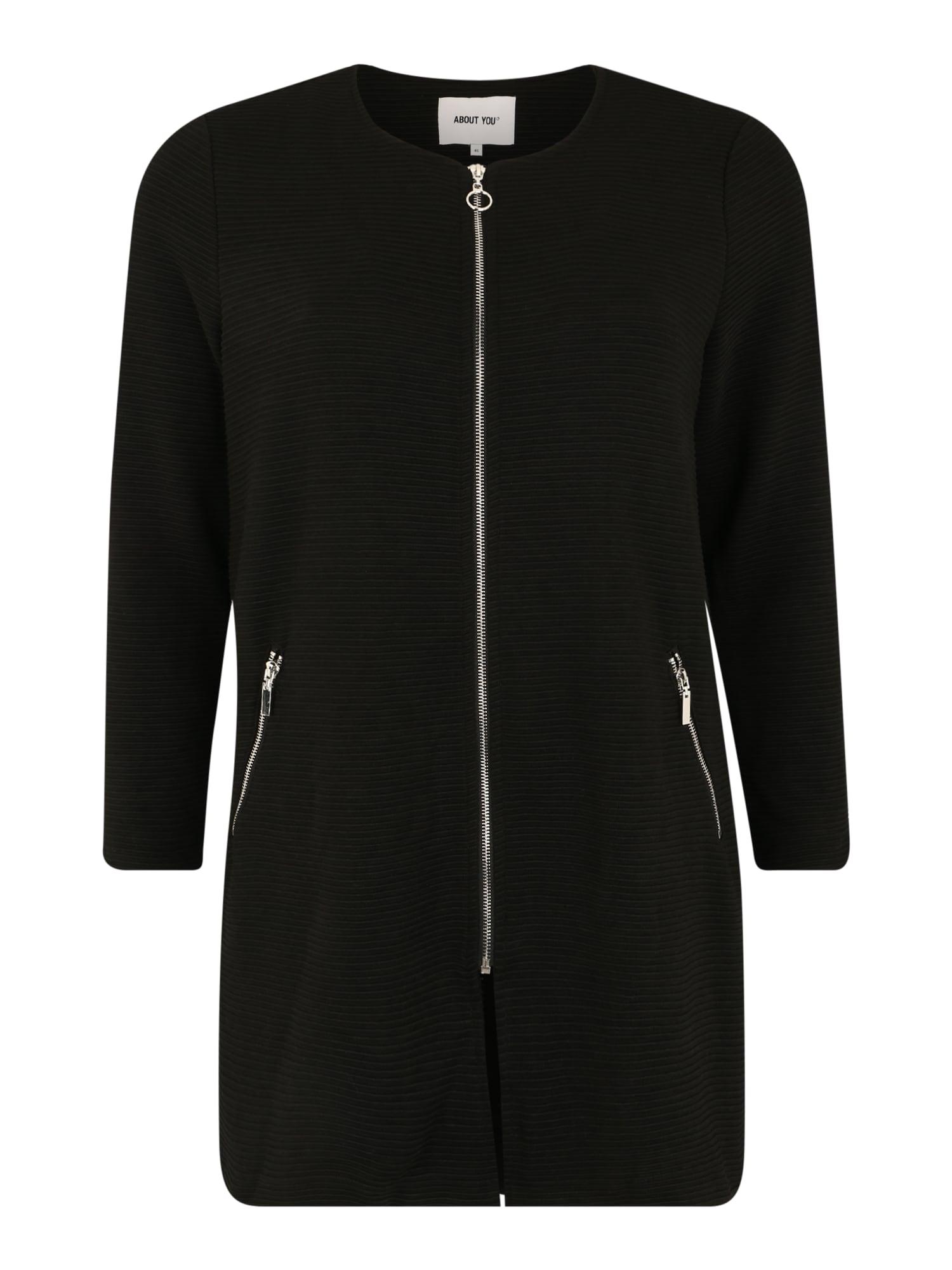 ABOUT YOU Curvy Rudeninis-žieminis paltas 'Dena' juoda