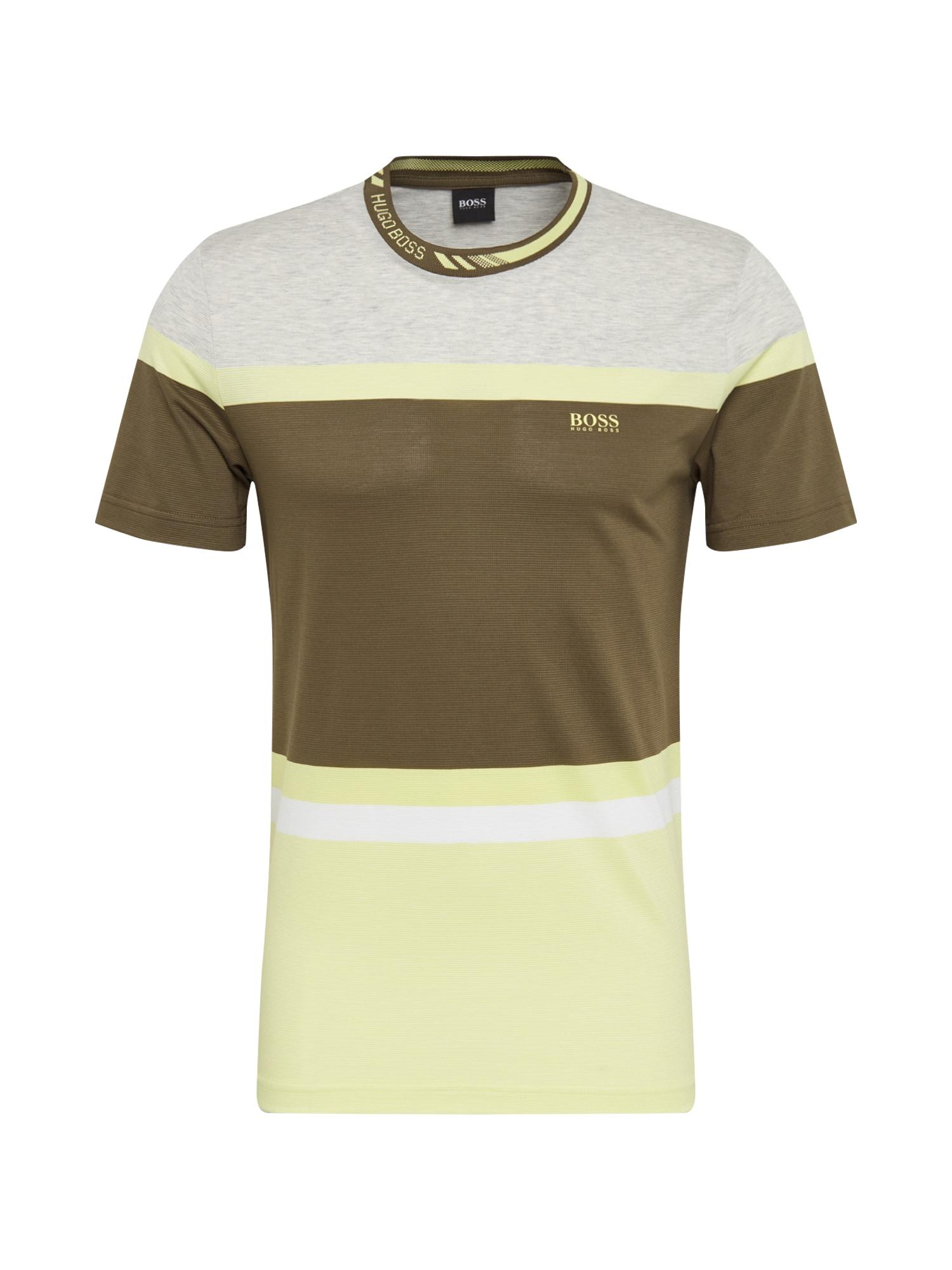 BOSS ATHLEISURE Marškinėliai 'Tee 8' tamsiai žalia