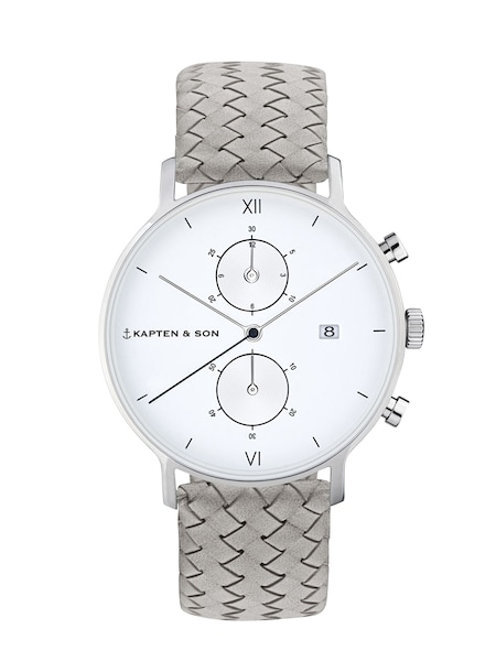 Uhren für Frauen - Kapten Son Armbanduhr 'Chrono Woven' grau  - Onlineshop ABOUT YOU