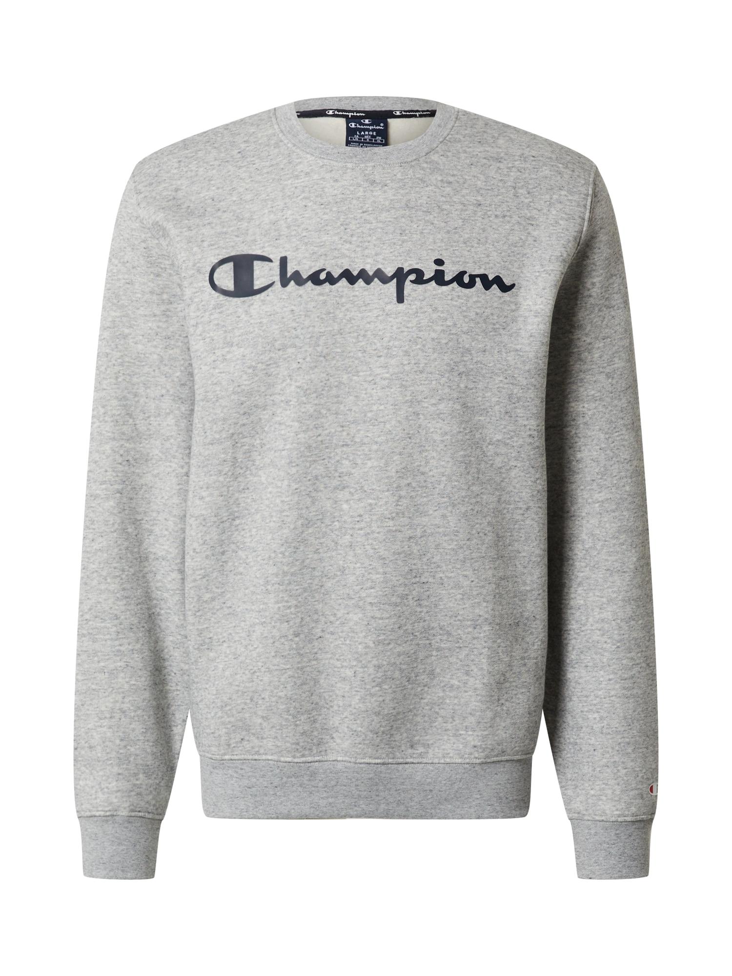 Champion Authentic Athletic Apparel Megztinis be užsegimo pilka / nakties mėlyna