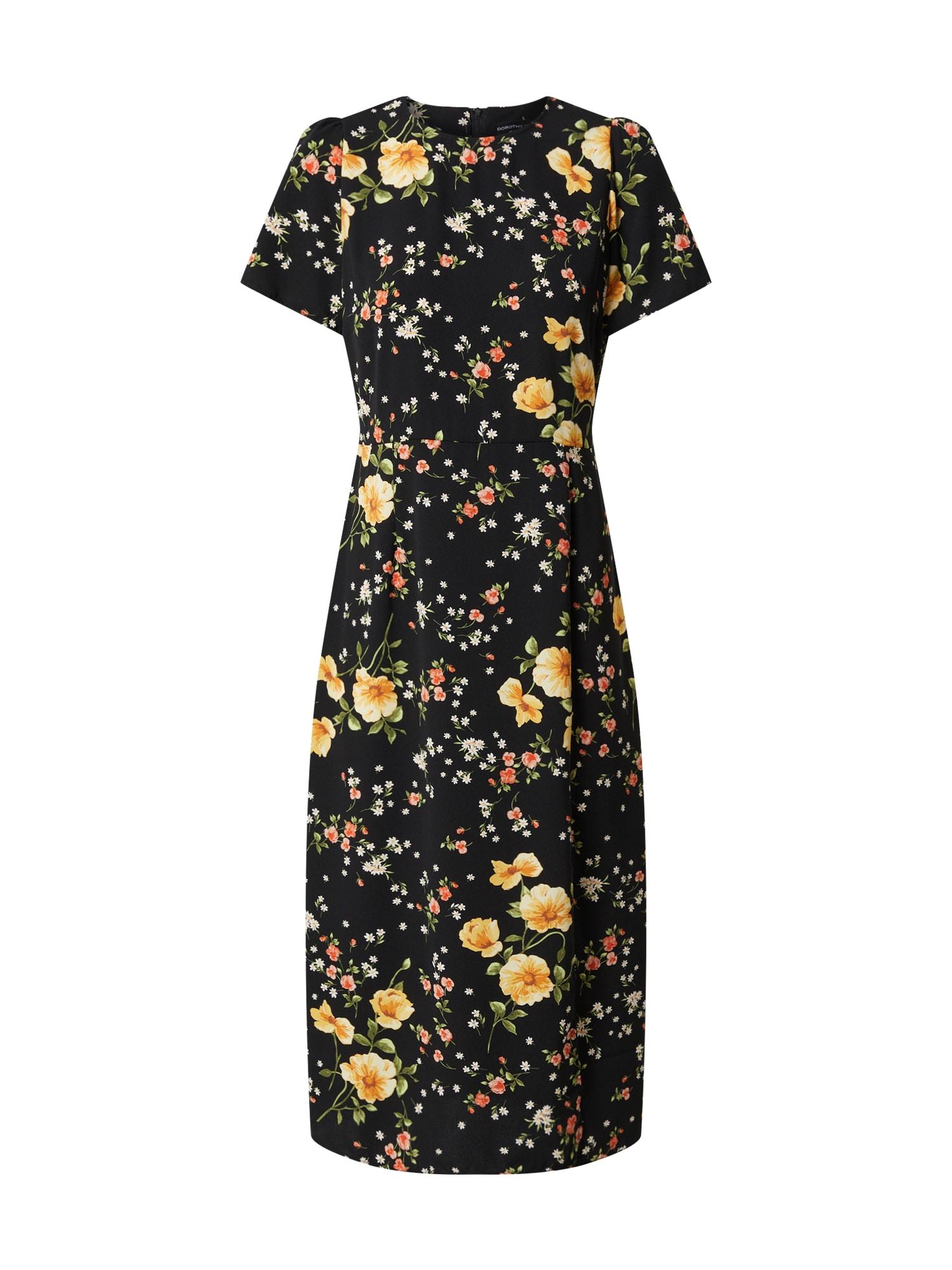 Dorothy Perkins Suknelė juoda / geltona