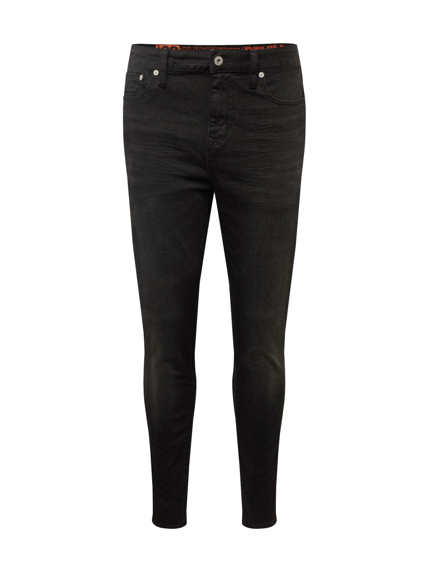 Superdry Džinsai 'TRAVIS SKINNY' juodo džinso spalva