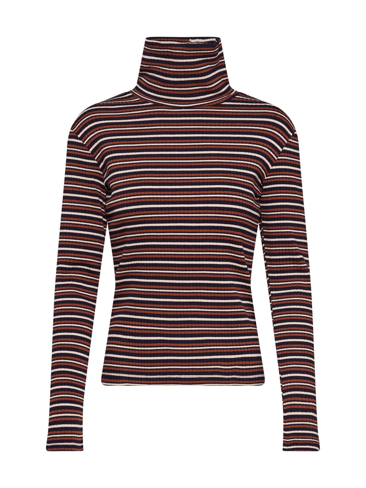 EDITED Marškinėliai 'Kazumi' mėlyna / ruda / rožių spalva