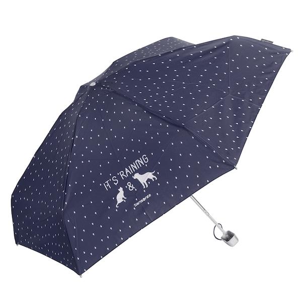 Regenschirme für Frauen - SAMSONITE Accessoires Taschenschirm 17 cm blau weiß  - Onlineshop ABOUT YOU