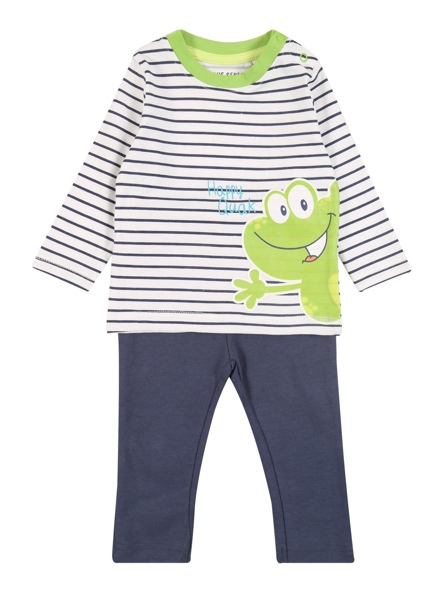 BLUE SEVEN Miego kostiumas tamsiai mėlyna / šviesiai žalia