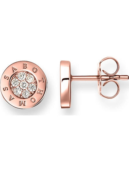 Ohrringe für Frauen - Thomas Sabo Ohrstecker rosegold weiß  - Onlineshop ABOUT YOU