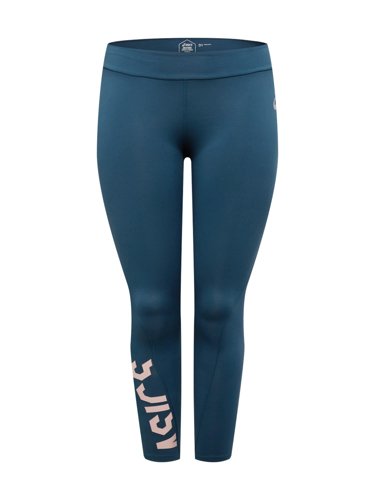 ASICS Športové nohavice 'ESNT'  ružová / modrá