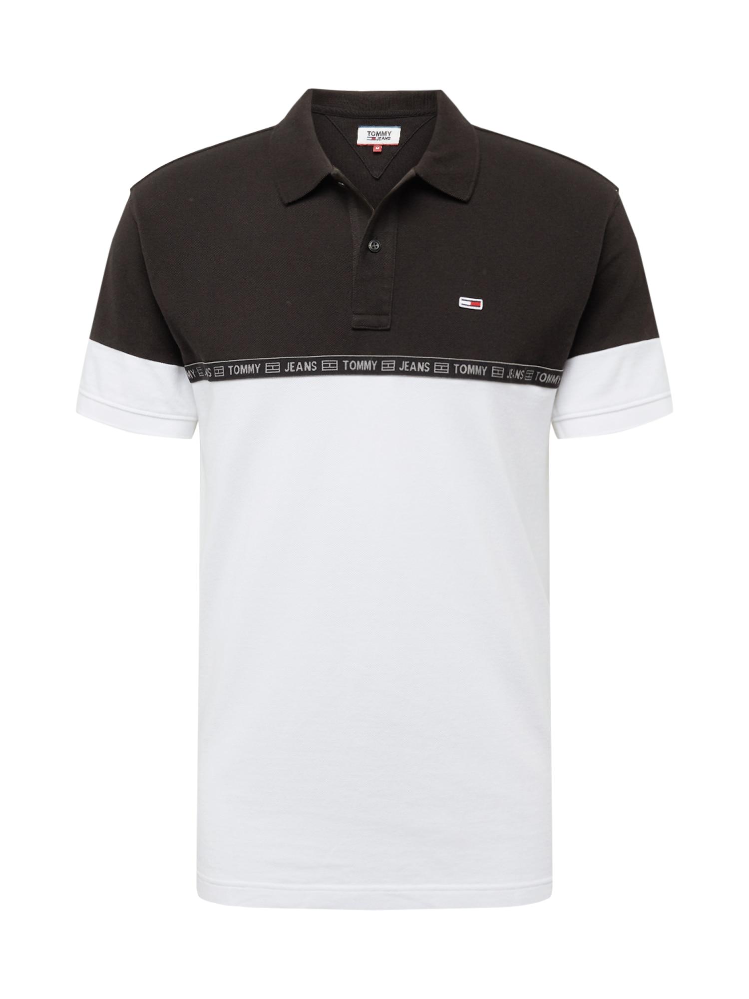 Tommy Jeans Tričko  bílá / černá