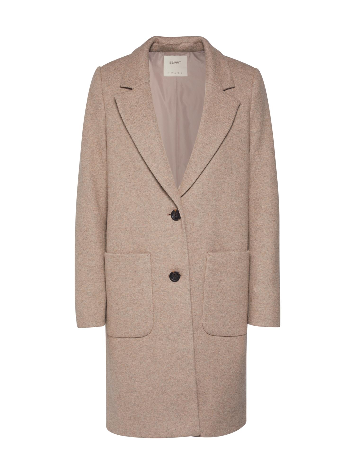 ESPRIT Rudeninis-žieminis paltas marga smėlio spalva