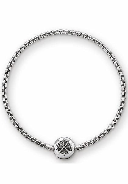 Armbaender für Frauen - Armband 'Karma Bead, KA0002 001 12' › Thomas Sabo › schwarzmeliert silber  - Onlineshop ABOUT YOU