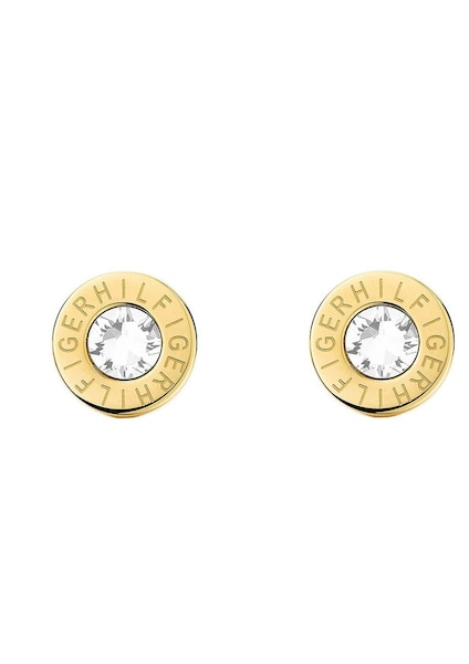 Ohrringe für Frauen - TOMMY HILFIGER Paar Ohrstecker »Classic Signature, 2700753« gold  - Onlineshop ABOUT YOU
