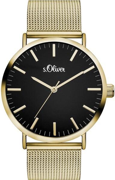 Uhren für Frauen - S.Oliver RED LABEL Quarzuhr ''SO 3326 MQ'' gold schwarz  - Onlineshop ABOUT YOU