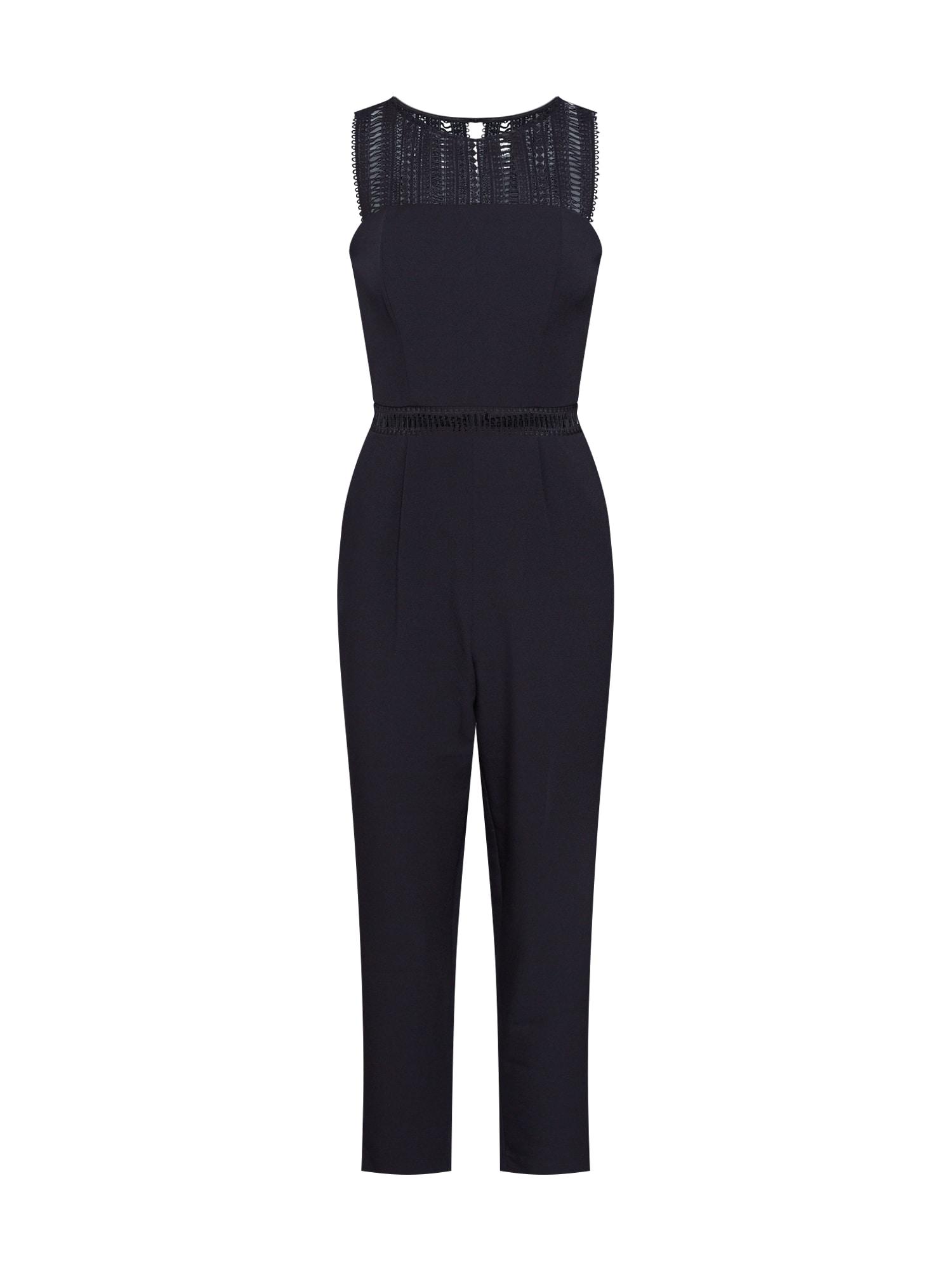 Bardot Kombinezono tipo kostiumas 'Lace Trim' juoda