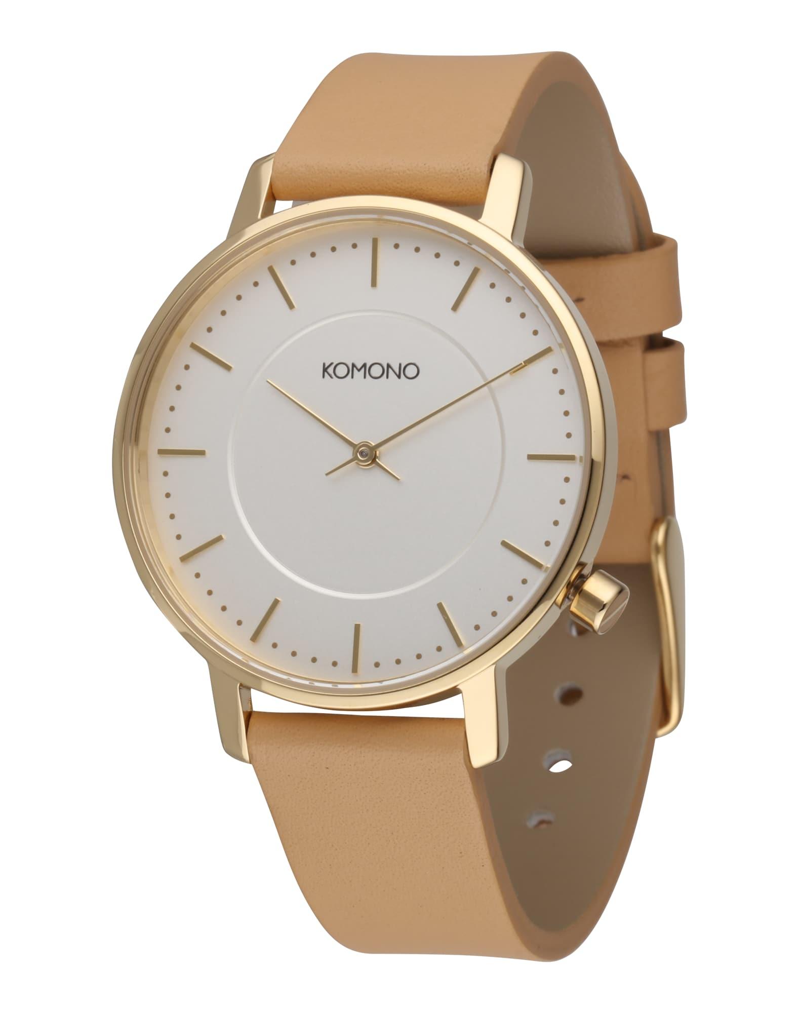 Analogové hodinky Harlow béžová zlatá Komono