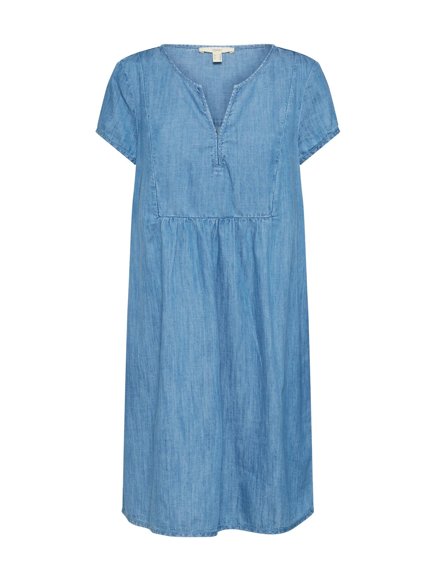 ESPRIT Suknelė tamsiai (džinso) mėlyna / šviesiai mėlyna