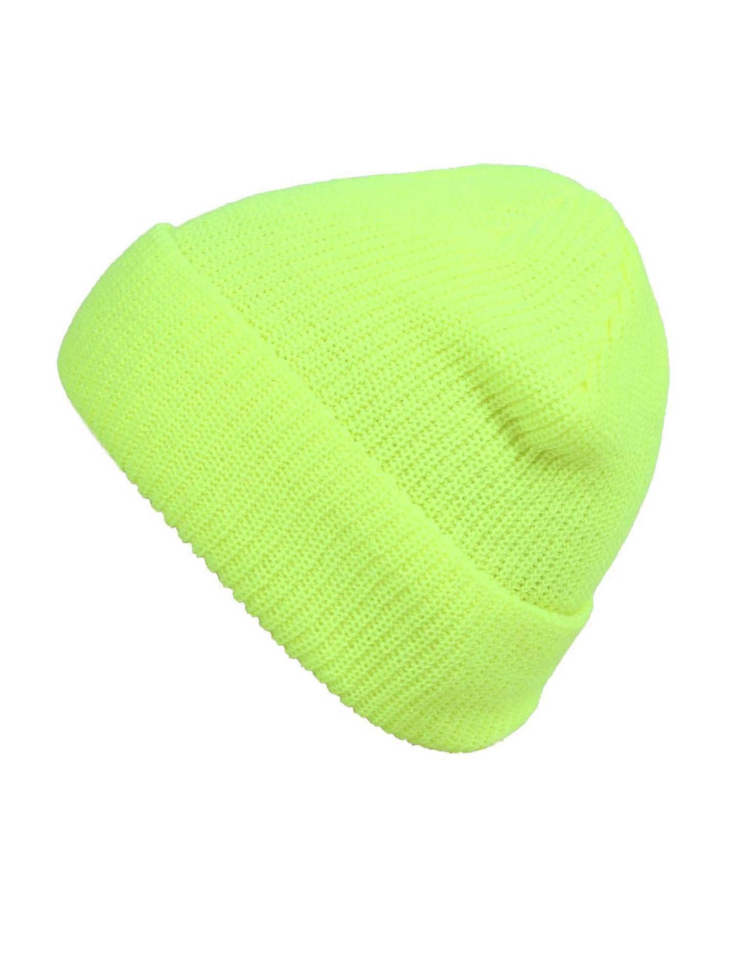 ABOUT YOU Megzta kepurė 'Salma' geltona / neoninė geltona / žalia