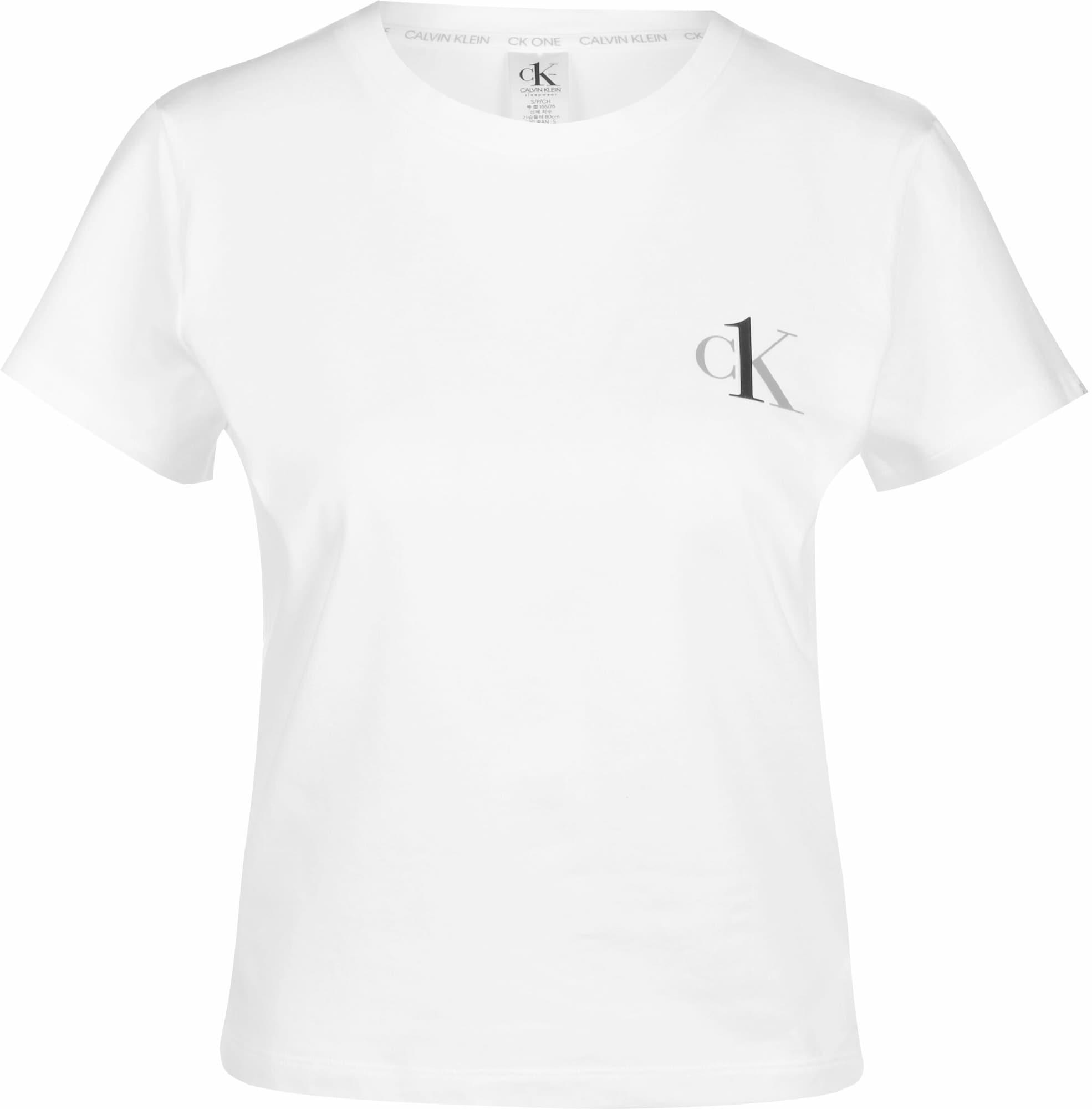 Calvin Klein Underwear Pižaminiai marškinėliai pilka / balta / juoda