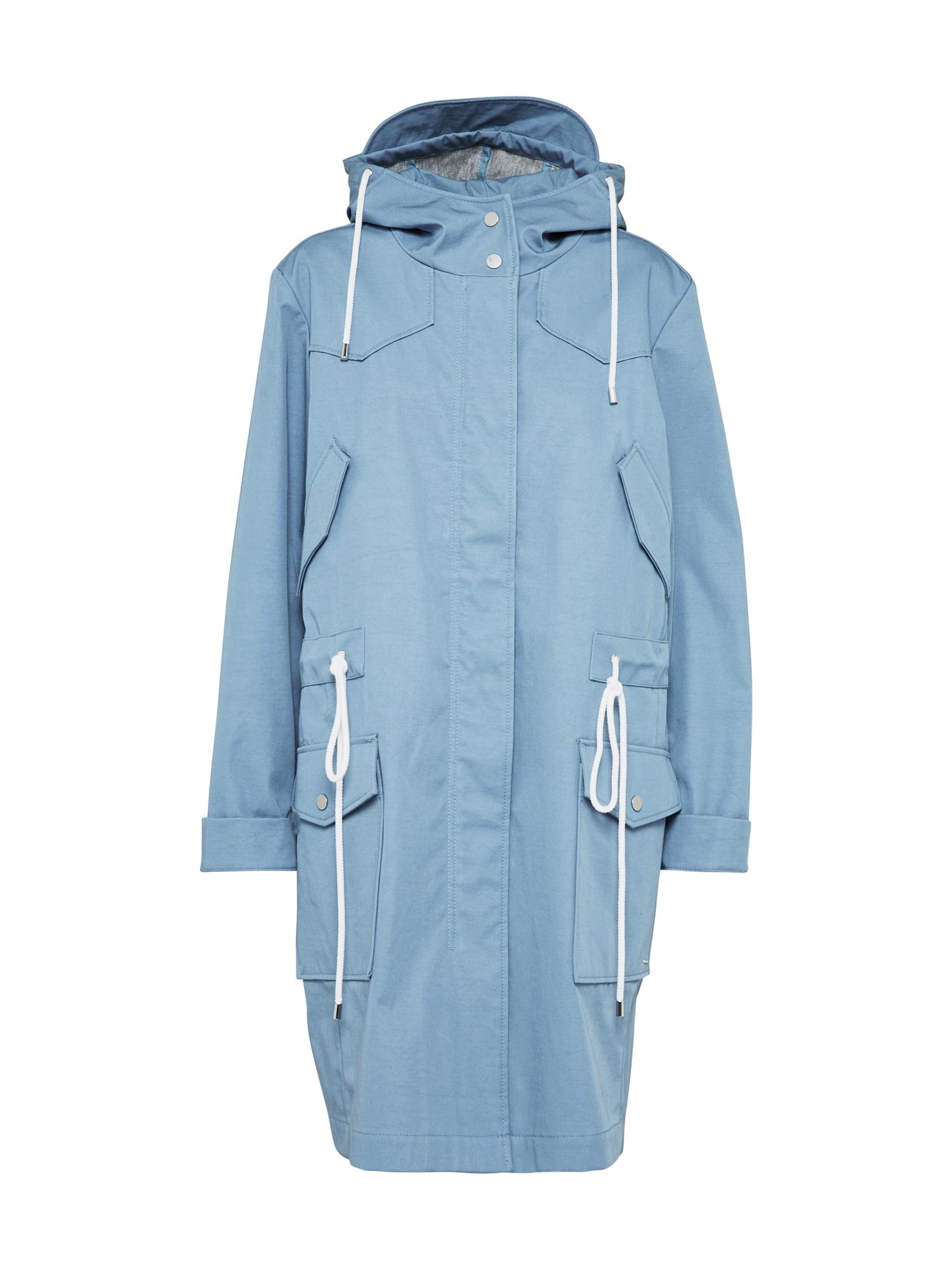 Přechodný kabát Obony aqua modrá bílá BOSS