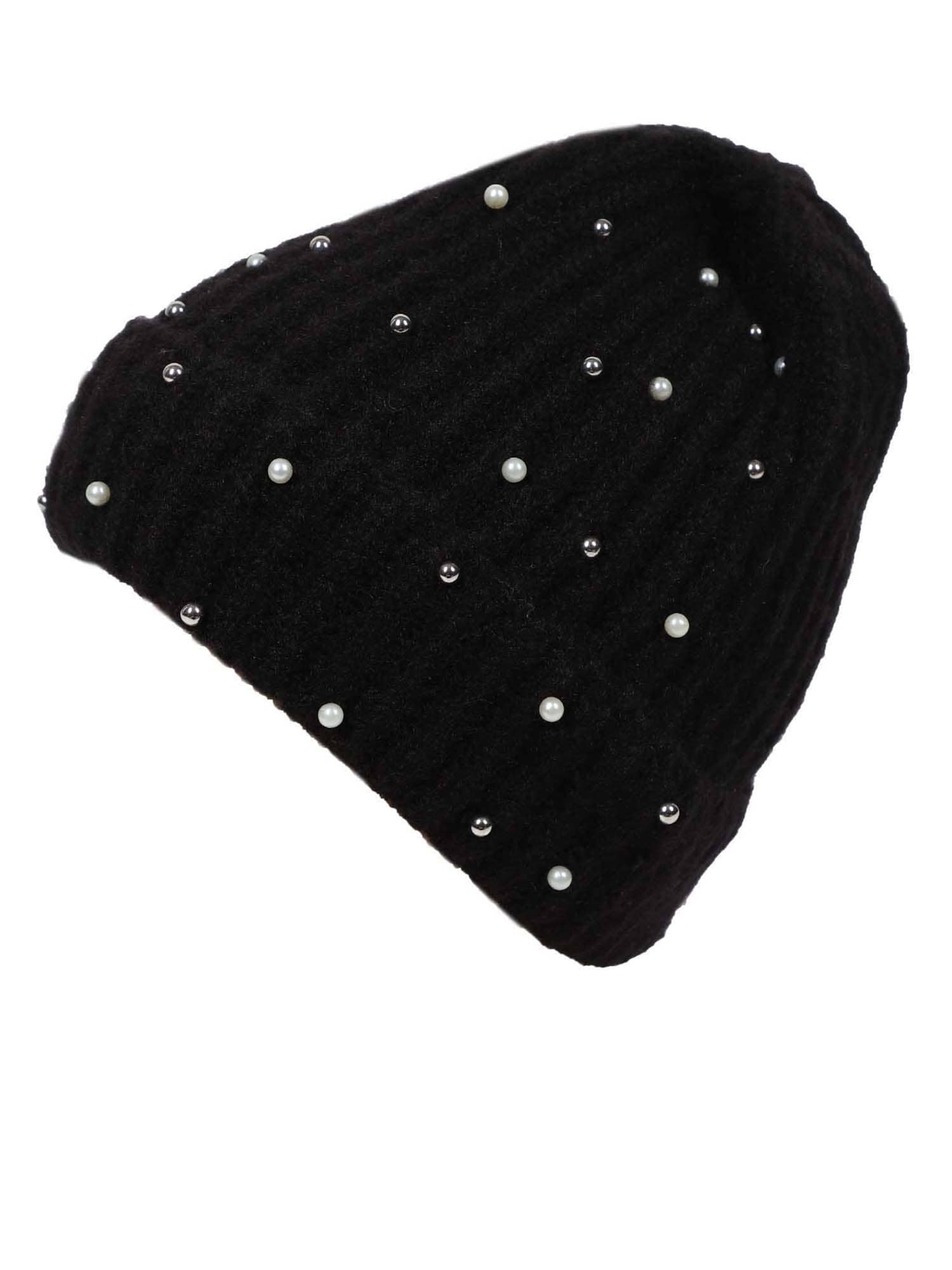ABOUT YOU Megzta kepurė 'Nora' juoda