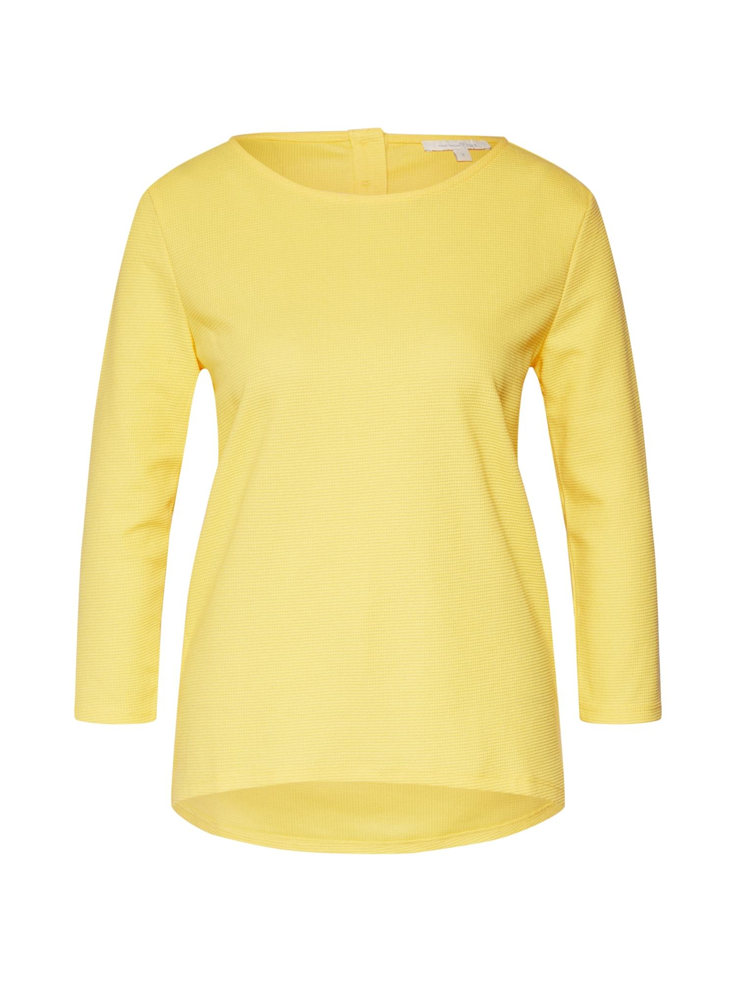 TOM TAILOR DENIM Marškinėliai žaliosios citrinos spalva