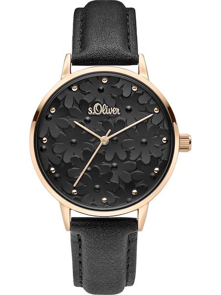 Uhren für Frauen - S.Oliver Uhr 'SO 3786 LQ' gold schwarz  - Onlineshop ABOUT YOU
