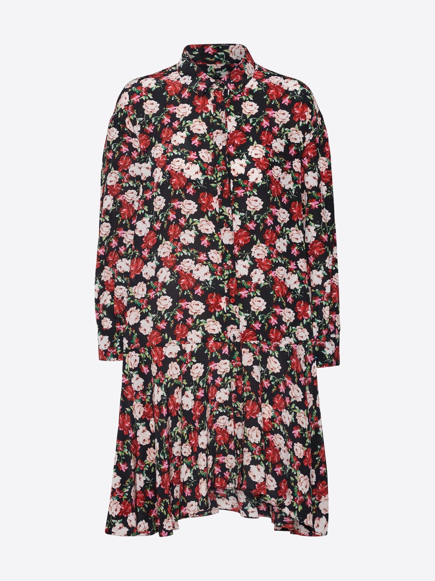 THE KOOPLES SPORT Kleid rot / schwarz - Schwarzes Kleid