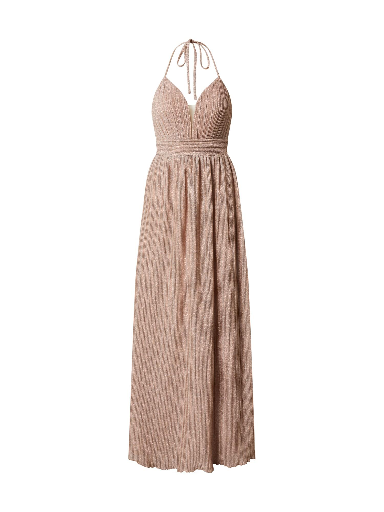 LUXUAR Vakarinė suknelė auksas / ryškiai rožinė spalva