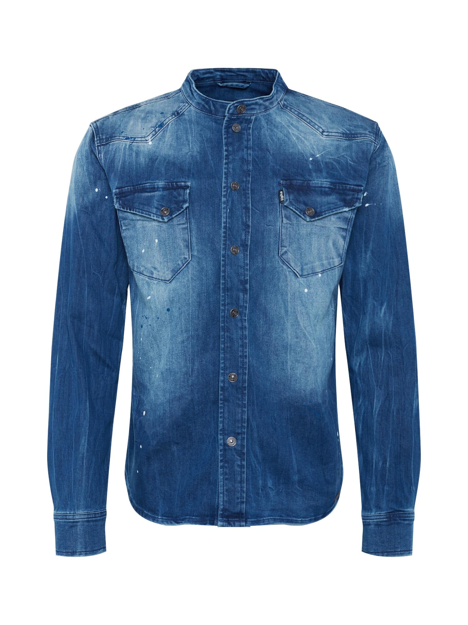 tigha Dalykiniai marškiniai 'Freddy 6866' tamsiai (džinso) mėlyna