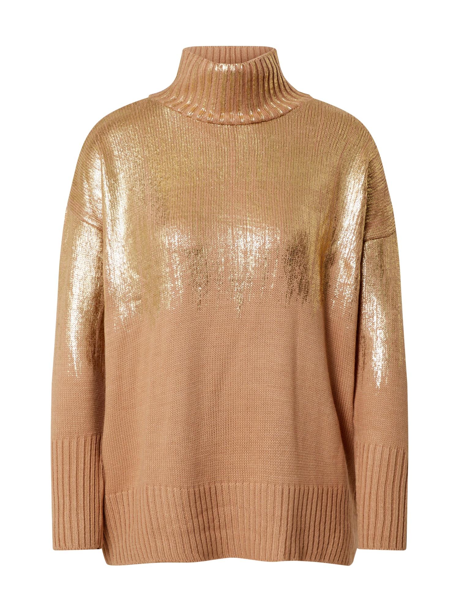 Trendyol Megztinis auksas / smėlio