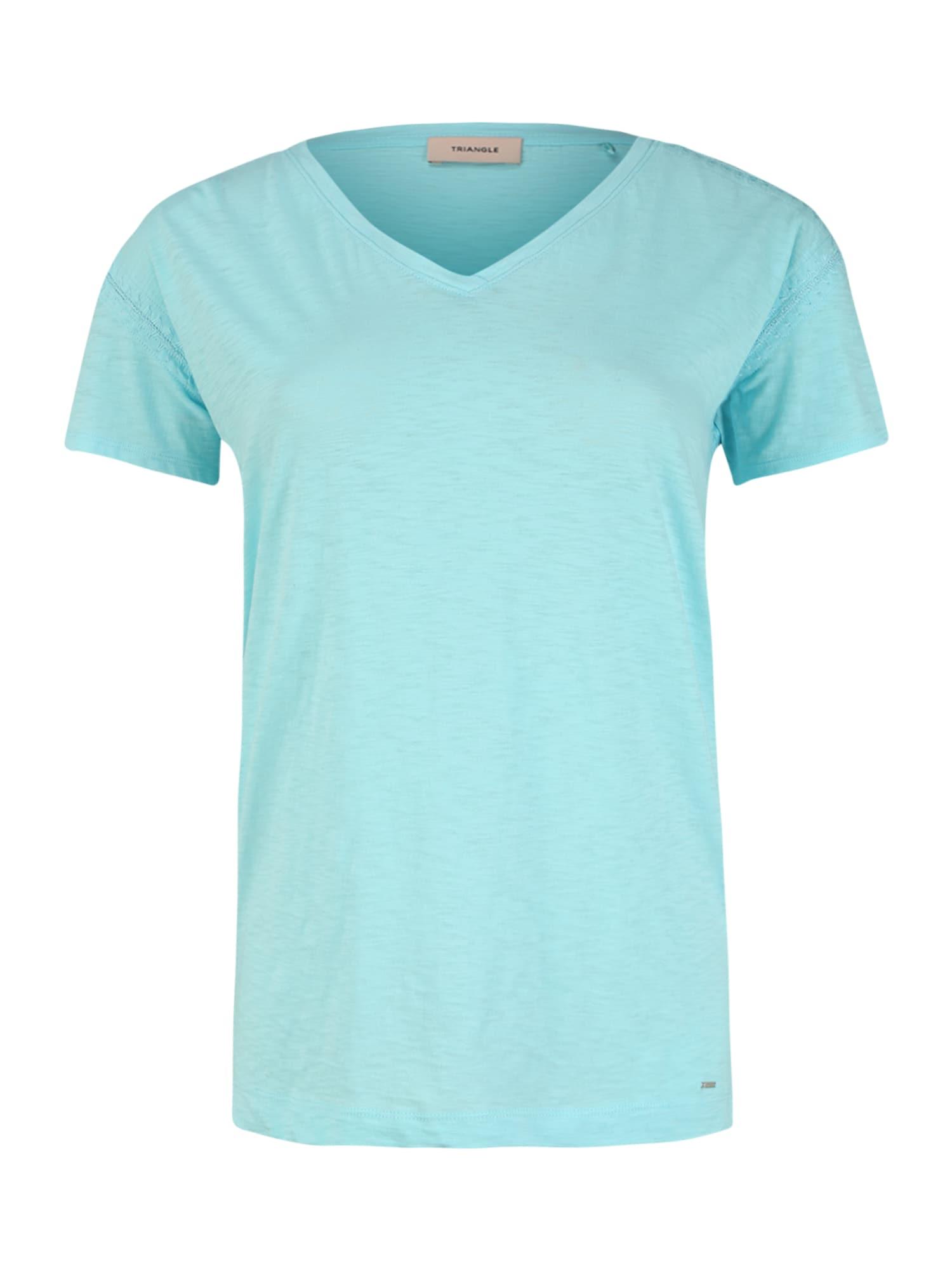 TRIANGLE Marškinėliai dangaus žydra