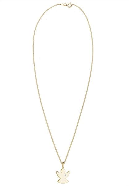 Ketten für Frauen - Diamore Kette 'Engel' gold weiß  - Onlineshop ABOUT YOU