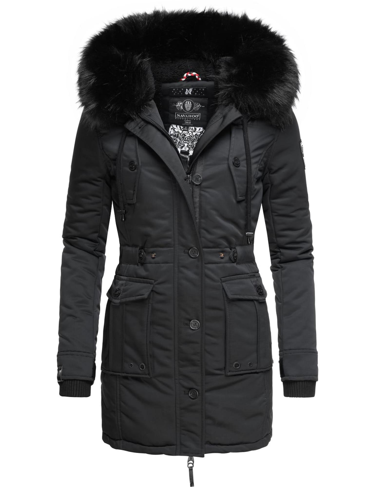 NAVAHOO Žieminis paltas juoda