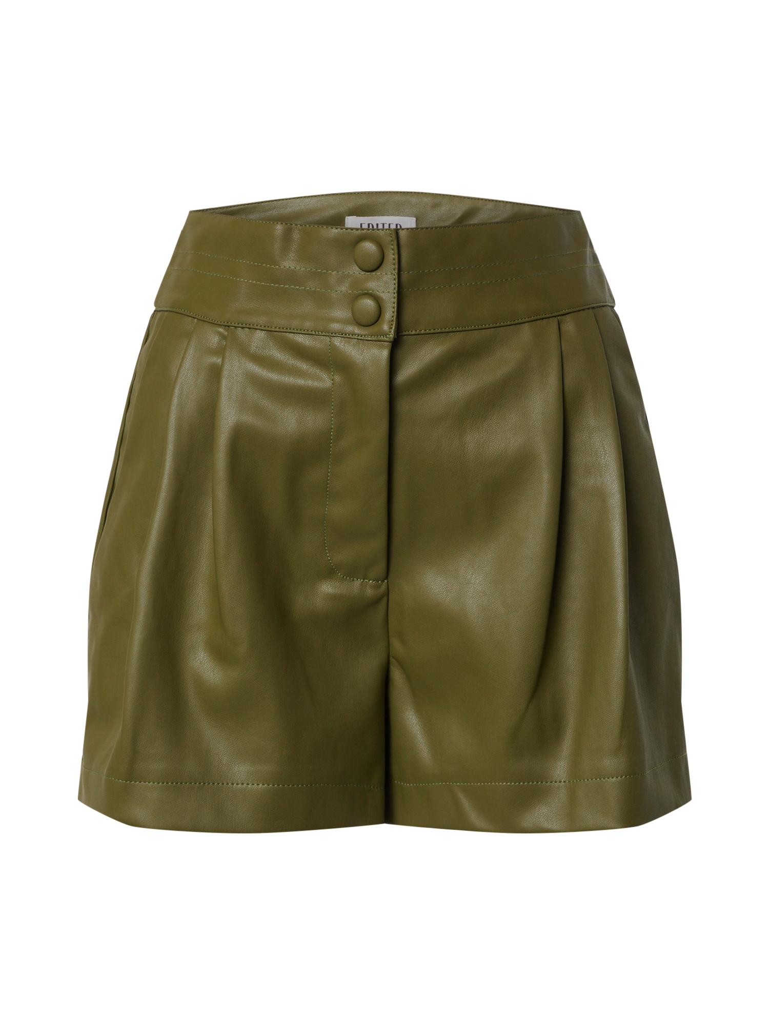 EDITED Kelnės 'Lexa' rusvai žalia