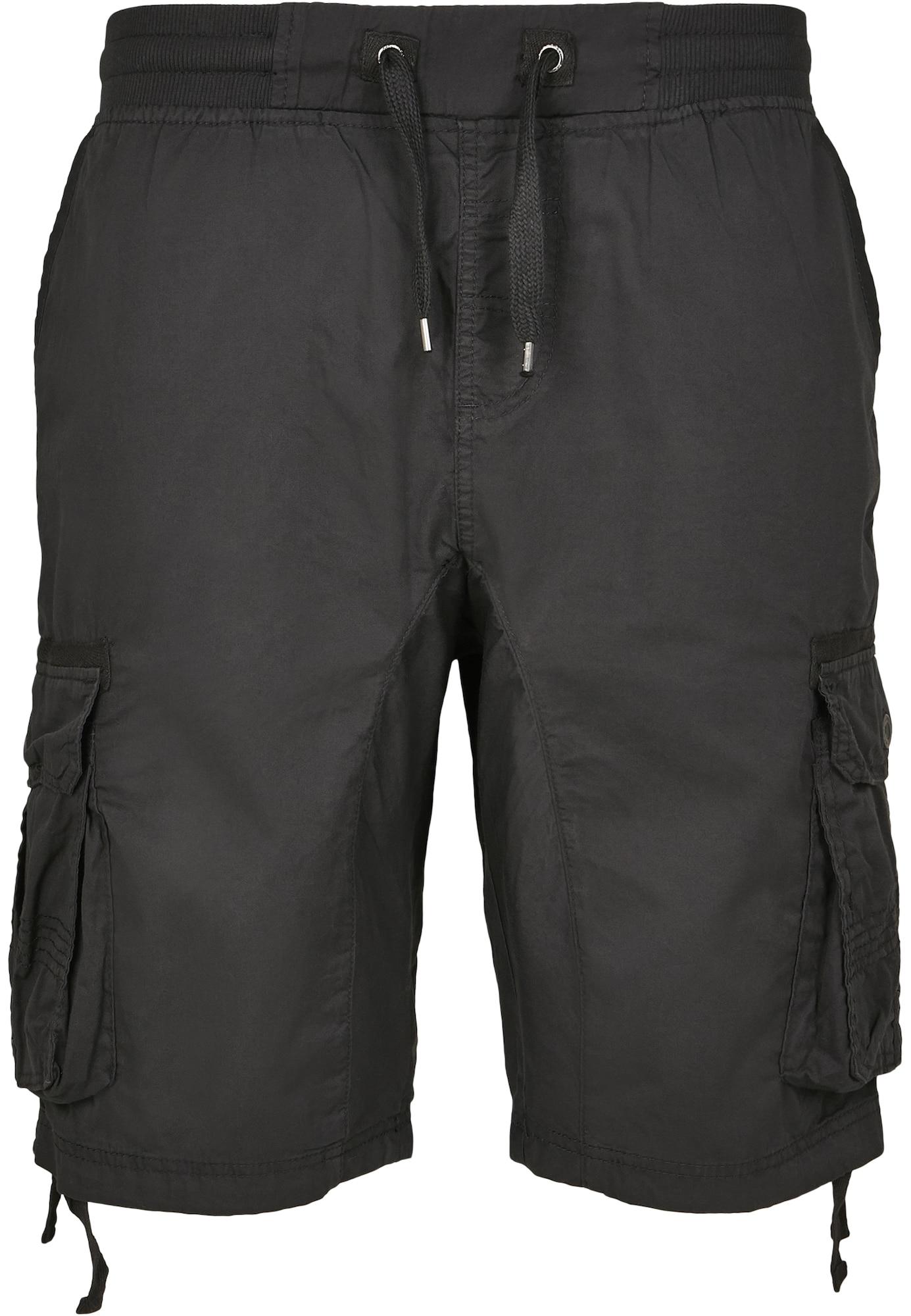 SOUTHPOLE Laisvo stiliaus kelnės juoda