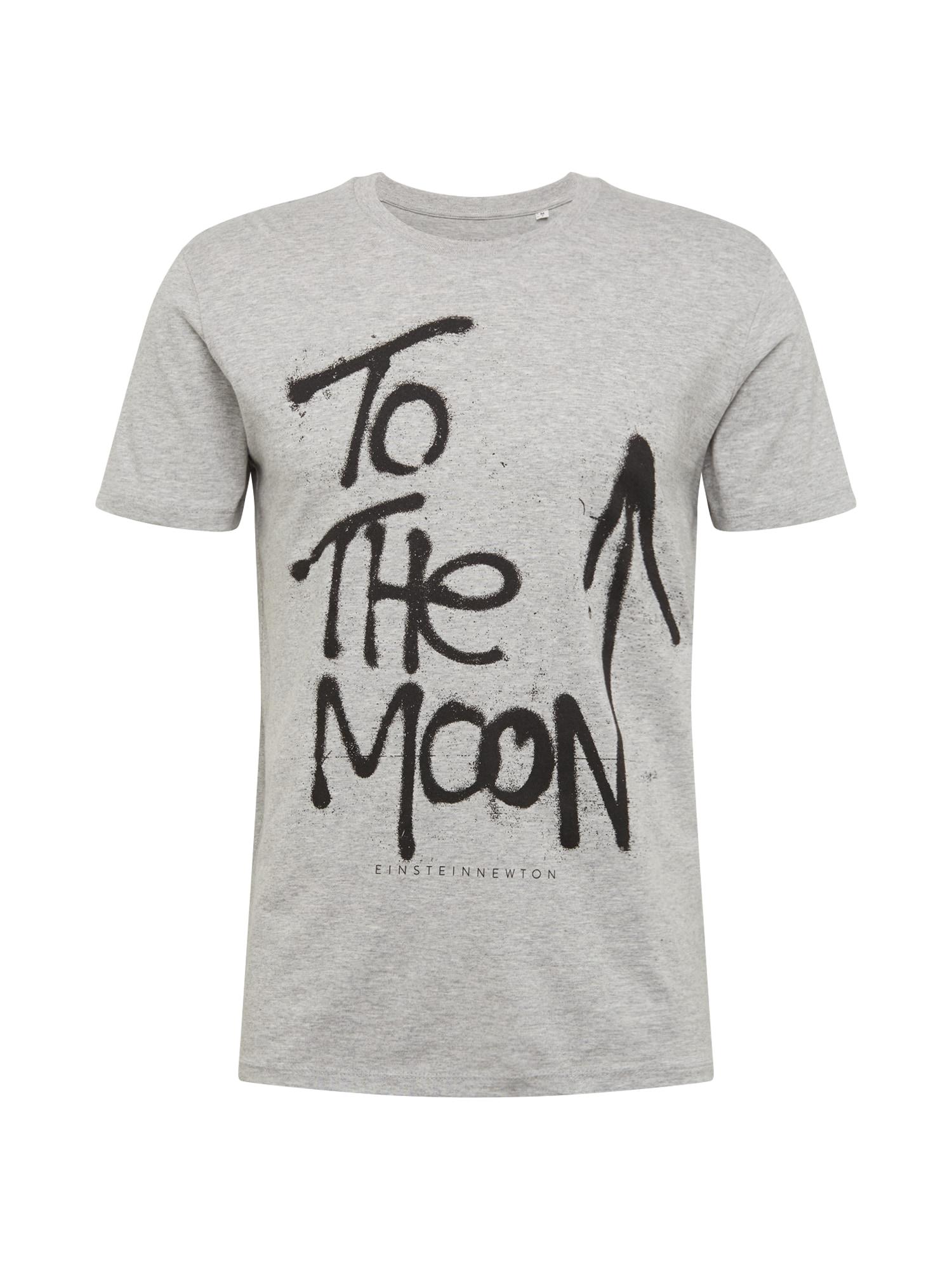 EINSTEIN & NEWTON Marškinėliai juoda / pilka