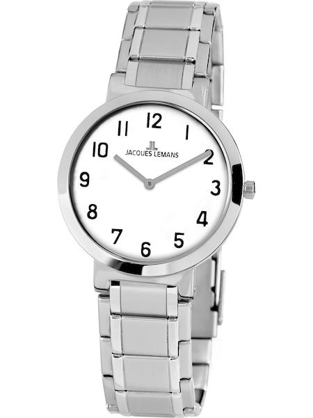 Uhren für Frauen - Jacques Lemans Damenuhr 'Milano' silber weiß  - Onlineshop ABOUT YOU