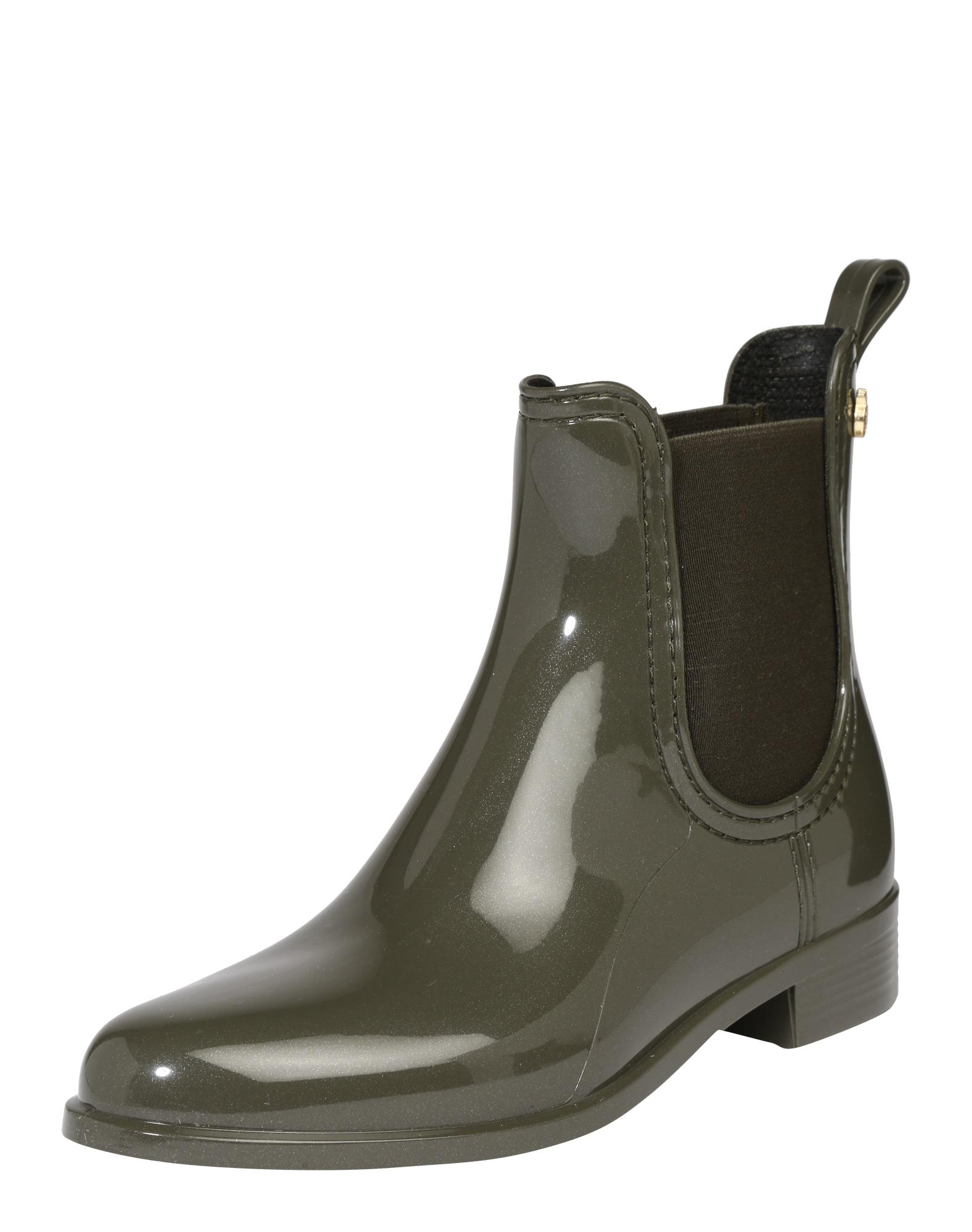 LEMON JELLY Guminiai batai 'Comfy' alyvuogių spalva