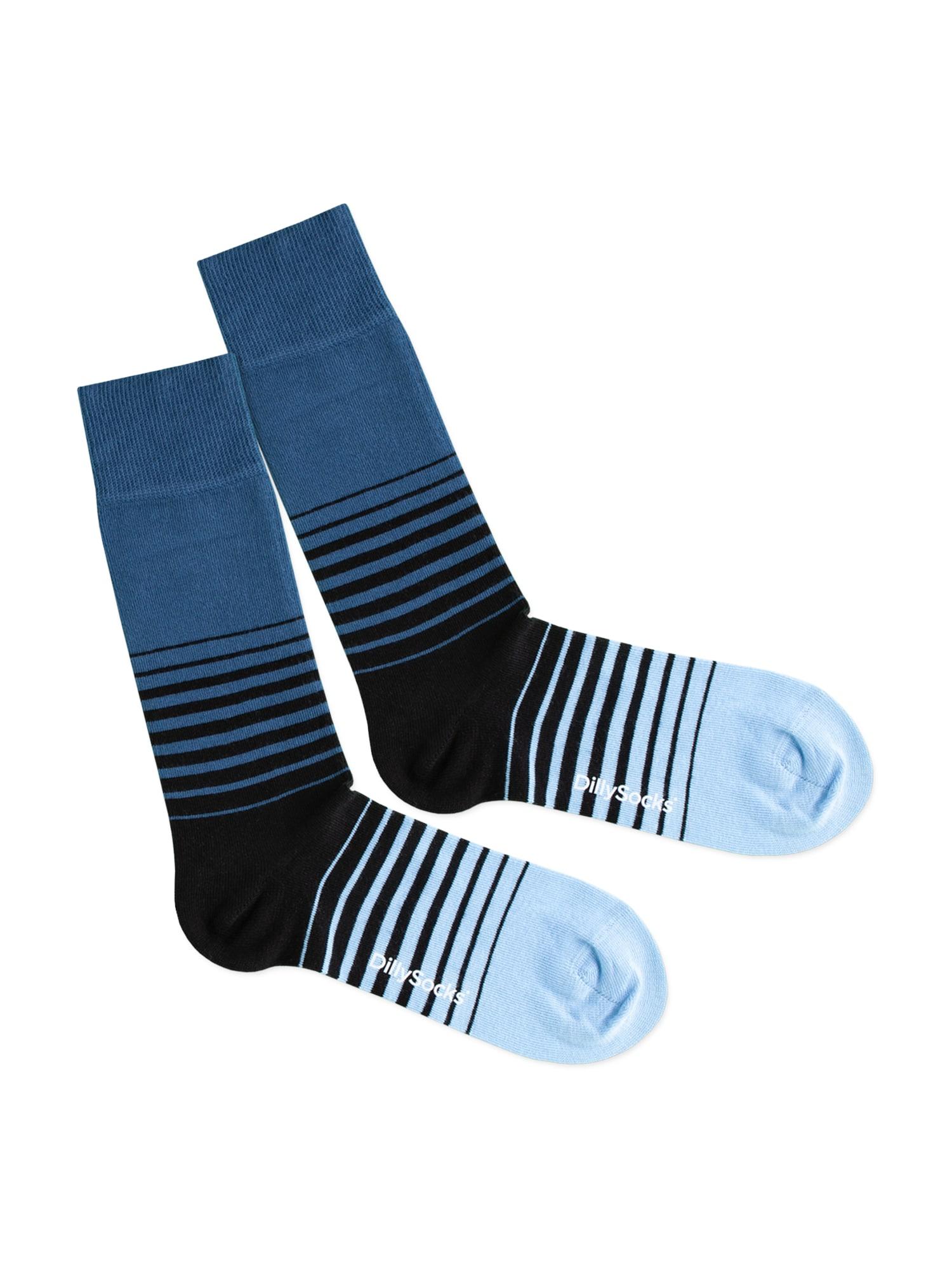 DillySocks Kojinės 'Cool Down' mėlyna / juoda