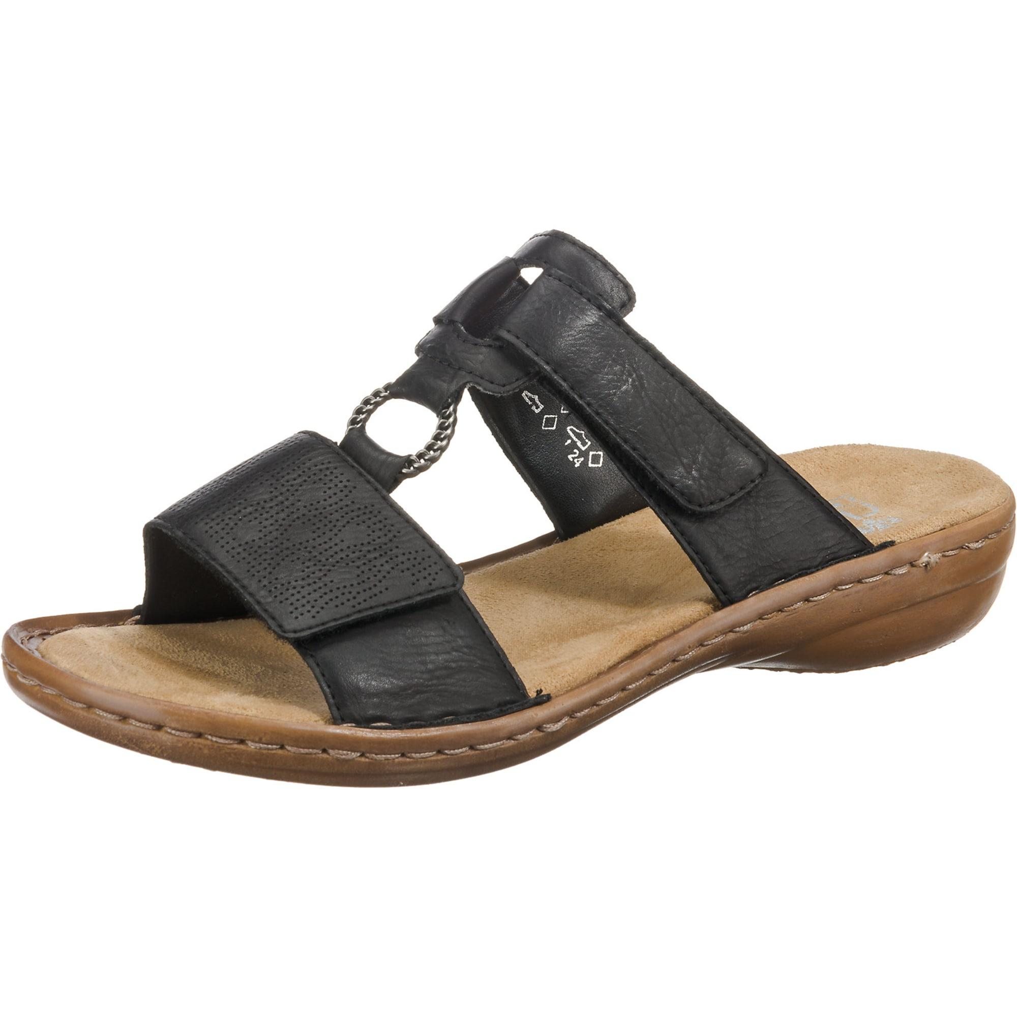 RIEKER Pantofle  černá