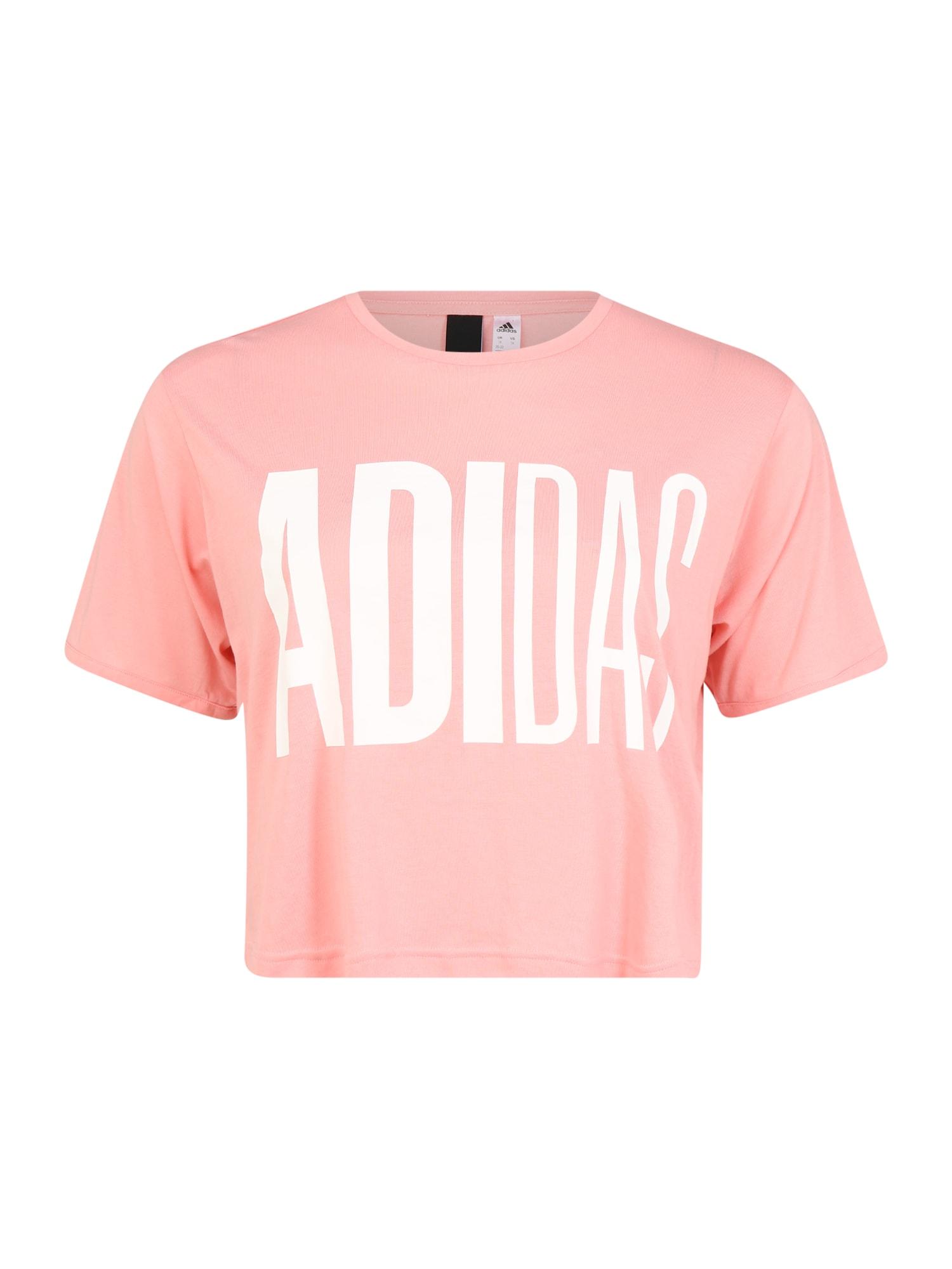 ADIDAS PERFORMANCE Sportiniai marškinėliai rožių spalva