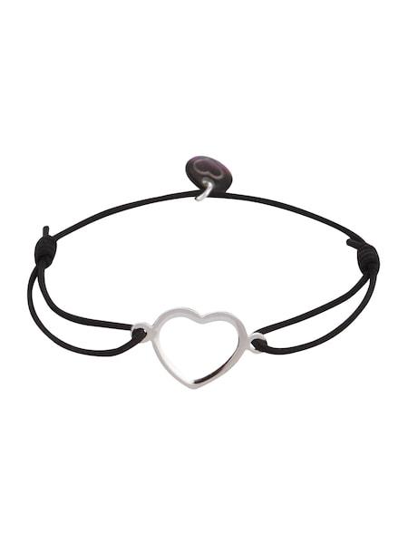 Armbaender für Frauen - Lua Accessories Armband 'True Love' schwarz silber  - Onlineshop ABOUT YOU