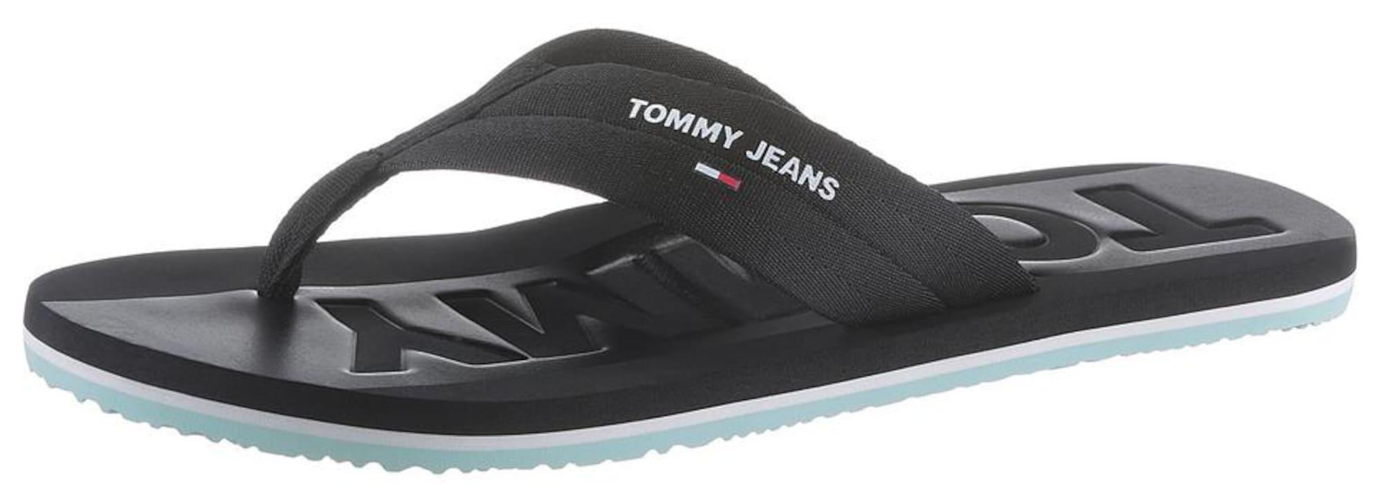 Tommy Jeans Žabky  mätová / čierna / biela