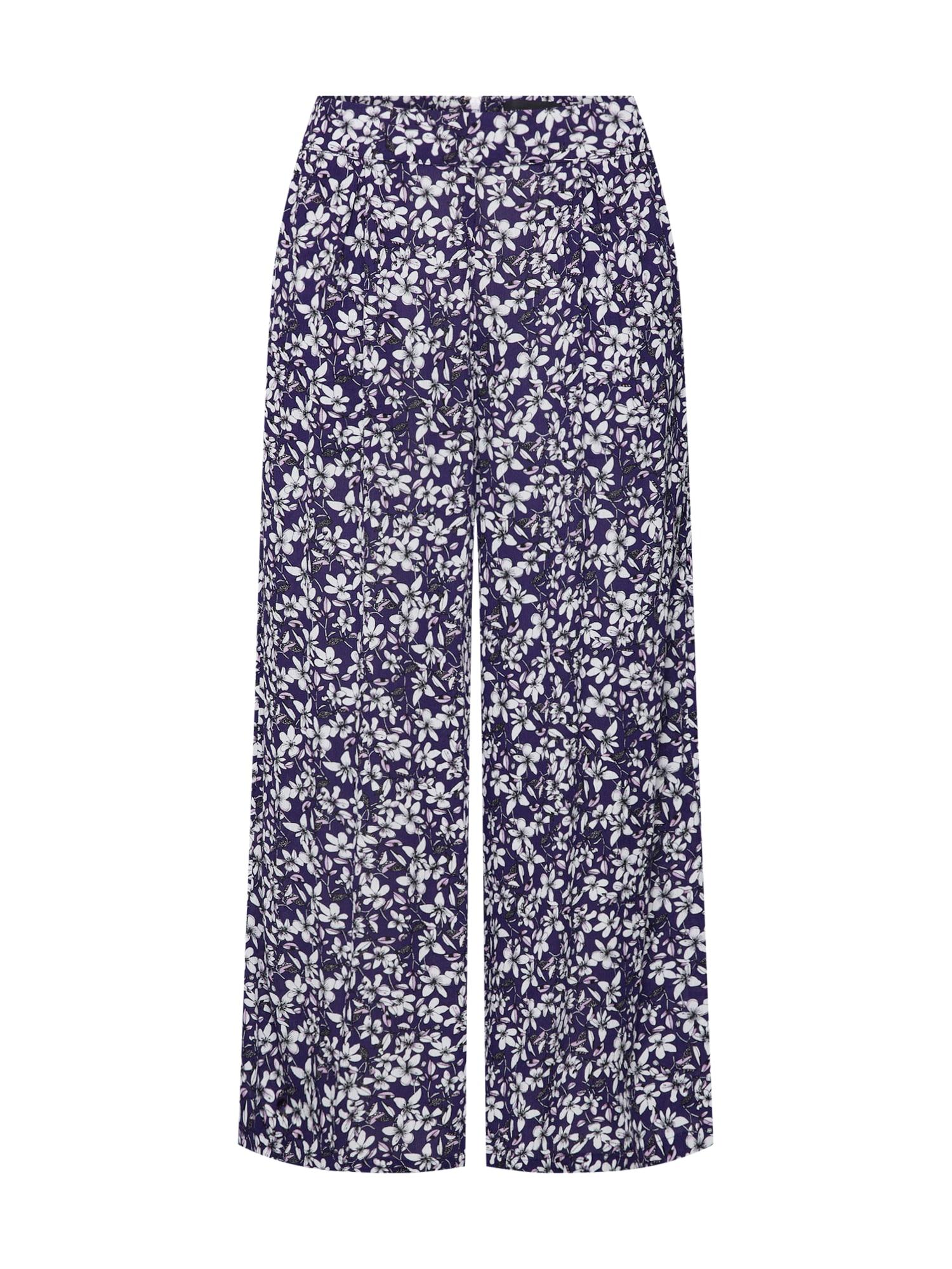 Kalhoty WILD JASMINE modrá bílá MINKPINK
