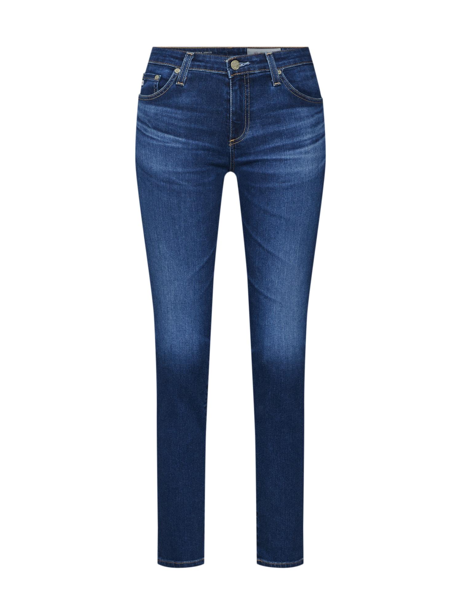 Džíny Prima Ankle modrá džínovina AG Jeans