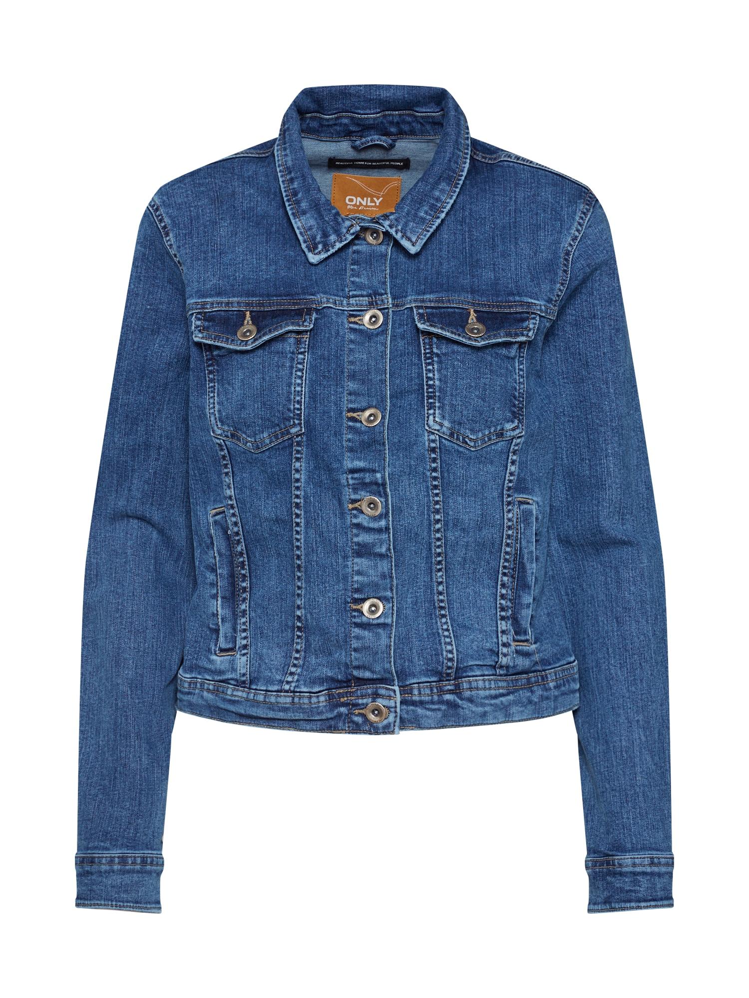 ONLY Demisezoninė striukė 'TIA' tamsiai (džinso) mėlyna