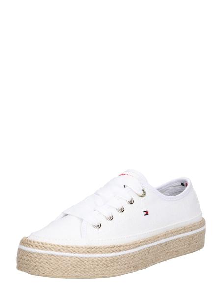 Sneakers für Frauen - TOMMY HILFIGER Sneaker 'JUTE DETAIL FLATFORM SNEAKER' beige weiß  - Onlineshop ABOUT YOU
