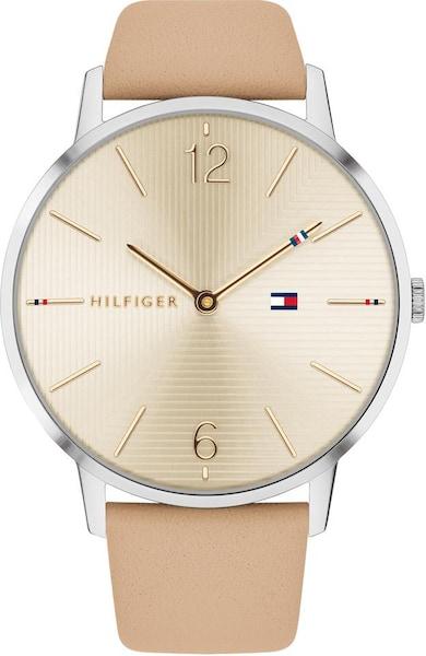 Uhren für Frauen - TOMMY HILFIGER Uhr 'Alex, 1781974' beige silber  - Onlineshop ABOUT YOU